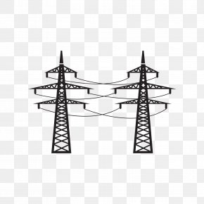 Black High Voltage Tower - High Voltage Tower PNG