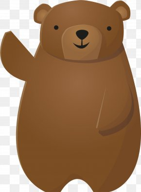Lovely Brown Bear Vector - Brown Bear PNG