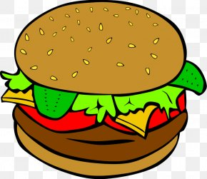 Food Cliparts Transparent - Hamburger Fast Food Junk Food Clip Art PNG