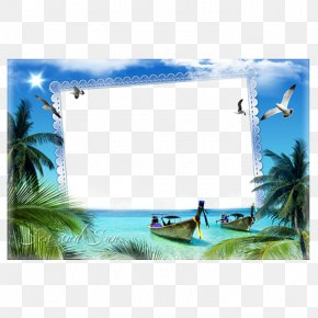 Yang Guan Beach Photo Frame - Picture Frame Photography Window Film Frame PNG