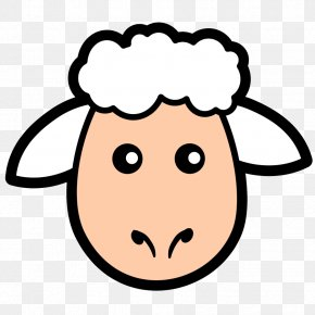 Simple Sheep Cliparts - Sheep Lamb And Mutton Face Clip Art PNG