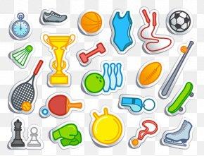 Cartoon Sports Equipment - Sports Equipment PNG