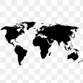 World Map - Globe World Map PNG