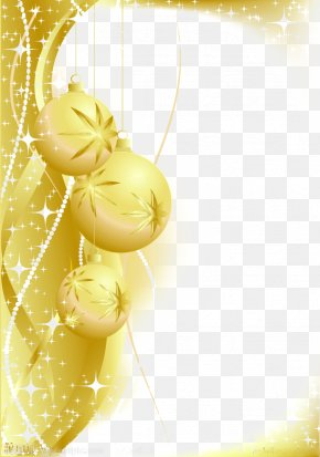Golden Christmas Decoration - Christmas Decoration Gold Wallpaper PNG