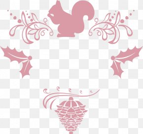 Dark Pink Christmas Border - Christmas Pink Flowers Download PNG