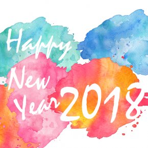 Happy New Year 2018 Color Splatter - New Year Gift PNG
