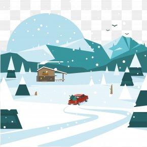 Vector Snow - Snow Winter Landscape PNG