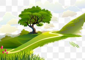 Vector Forest - Morning Quotation Wallpaper PNG