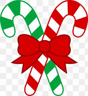 Simple Holiday Cliparts - Candy Cane Lollipop Christmas Clip Art PNG