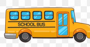 Commercial Vehicle Toy - School Bus Cartoon PNG