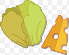 Lettuce And Cheese Flat Design - Breakfast Hamburger Flat Design PNG