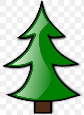 Xmas Art - Christmas Tree Cartoon Clip Art PNG