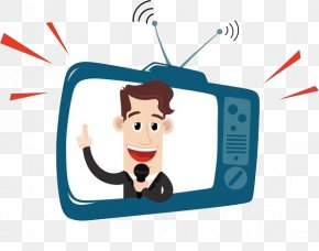 The Man With The Receiver On The Television - Drawing Photography Television Illustration PNG