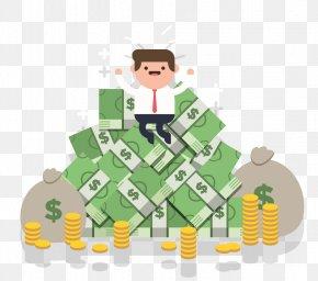 Money Businessman Cartoon - Web Hosting Service Reseller Web Hosting Domain Name PNG