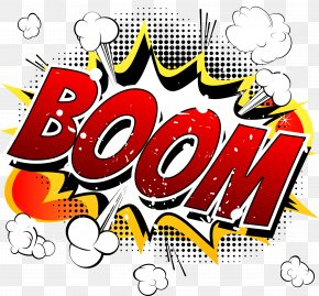 BOOM Comic Explosion Vector Cloud - Cartoon Comics Comic Book Illustration PNG
