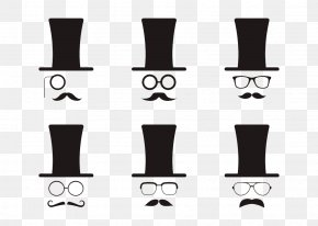 Different Glasses And Beard - Beard Moustache PNG