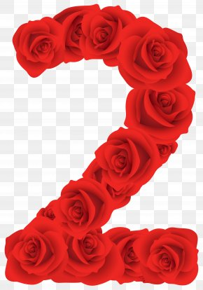Red Roses Number Two Clipart Image - Interlacing PNG