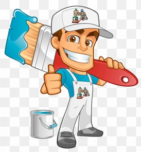 Painting - Painting House Painter And Decorator Cartoon PNG