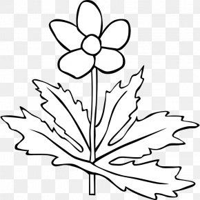 Black And White Plant - Plant White Flower Clip Art PNG