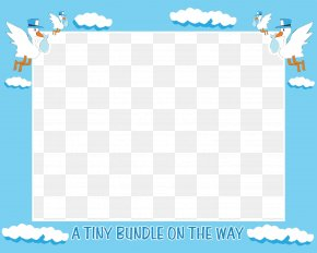 Baby Border - Baby Shower Infant Wedding Invitation Boy Clip Art PNG