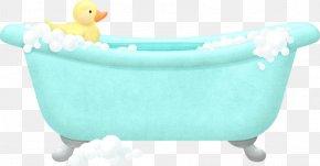 Small Yellow Duck In The Bathtub - Bathtub Towel Bathroom Bathing PNG