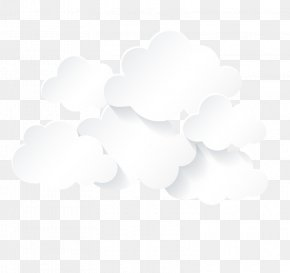 White Clouds - Black And White Sky Cloud Pattern PNG