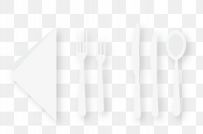 Knife And Fork Spoon - Black And White Square Angle Pattern PNG