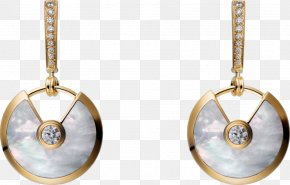 Cartier Platinum Earrings Asia - Earring Cartier Jewellery Colored Gold PNG