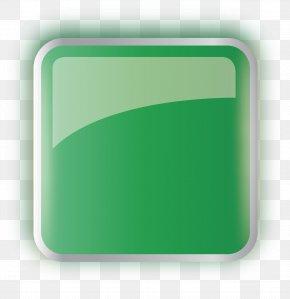 Green Square Glass Button - Green Square Glass Icon PNG