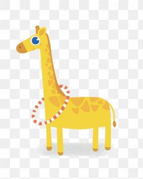 Hand-painted Giraffe - Northern Giraffe Drawing Yellow Illustration PNG