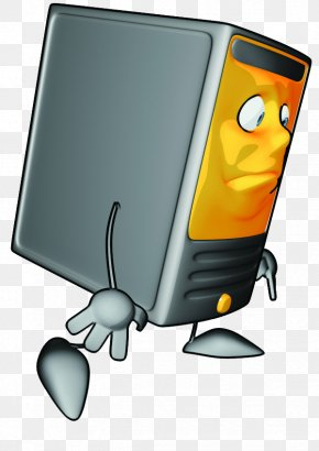 Creative Cartoon Computer Chassis - Computer Mouse Computer Case Clip Art PNG
