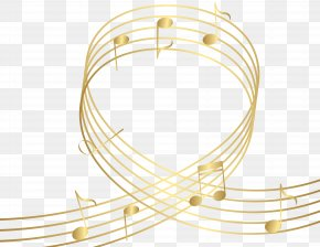 Gld Notes Transparent Clip Art Image - Musical Note Clip Art PNG