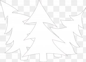 Black And White Images Of Trees - Line Art White Symmetry Pattern PNG