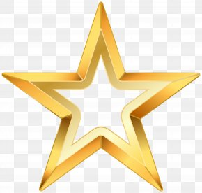 Gold Star Transparent Clip Art Image - Star Clip Art PNG