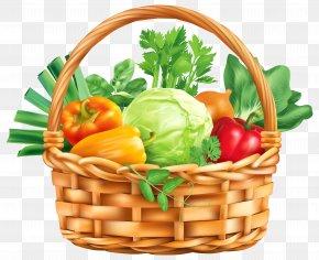 Vegitable Basket Clipart Image - Vegetable Basket Fruit Clip Art PNG