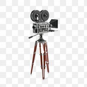 Vintage Movie Camera - Tripod Photographic Film Movie Camera PNG