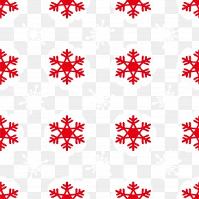 Red Snow Background - Snowflake Euclidean Vector Icon PNG