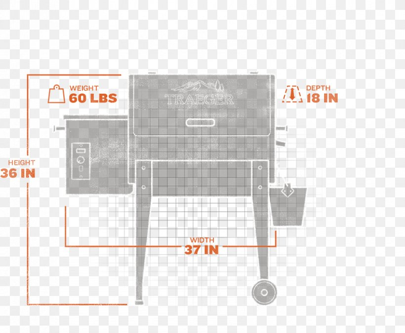 Barbecue Pellet Grill BBQ Smoker Traeger Junior Elite Tailgate Party, PNG, 850x700px, Barbecue, Bacon, Bbq Smoker, Cooking, Grilling Download Free