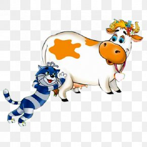 Funny Animals - Cattle Funny Animal Cartoon Clip Art PNG