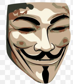 Anonymous Mask - Guy Fawkes Andre The Giant Has A Posse V For Vendetta T-shirt Mask PNG