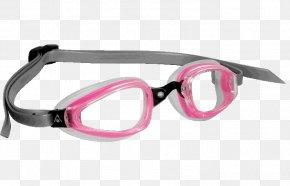 Pink Aqua Sphere Goggles - Swedish Goggles Sunglasses Swimming PNG