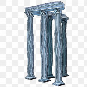 Exquisite Corridor Column - Column Architecture Computer Graphics Illustration PNG