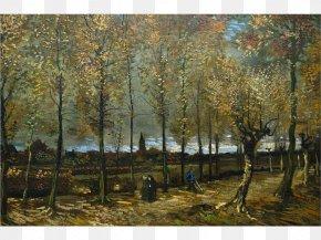 Vincent Van Gogh - Poplars Near Nuenen Van Gogh Museum The Starry Night Almond Blossoms Painting PNG