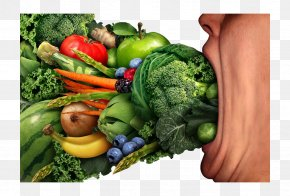 Mouth To Eat Vegetables - Eating Healthy Diet Fruit PNG