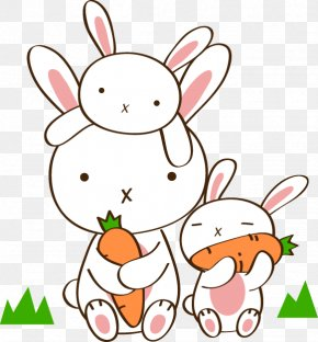 Bunnies Eat Carrots - Hot Pot Eating Carrot Radish Chinese Cabbage PNG