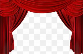 Red Curtains - Window Theater Drapes And Stage Curtains Clip Art PNG