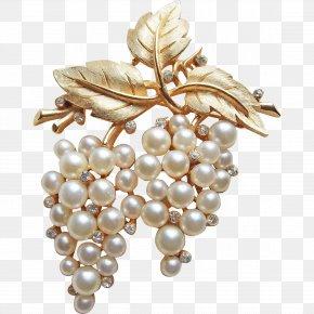 Jewellery - Pearl Earring Brooch Jewellery Costume Jewelry PNG