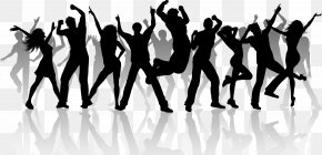 Dancing People - Group Dance Silhouette Clip Art PNG