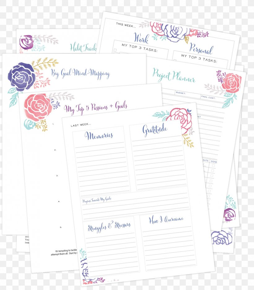Paper Personal Organizer Planning Goal, PNG, 1603x1827px, Paper, Business, Business Plan, Calendar, Goal Download Free