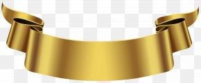 Golden Banner Transparent Clip Art Image - Banner Clip Art PNG
